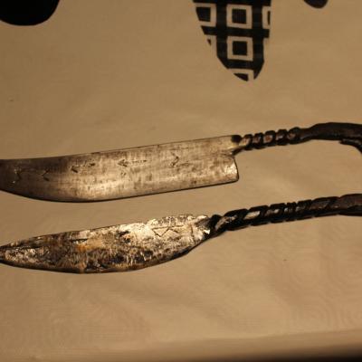 Fabrication de couteau en fer
